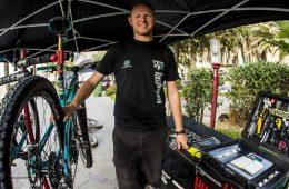 Shaun Hughes and his toolbox...