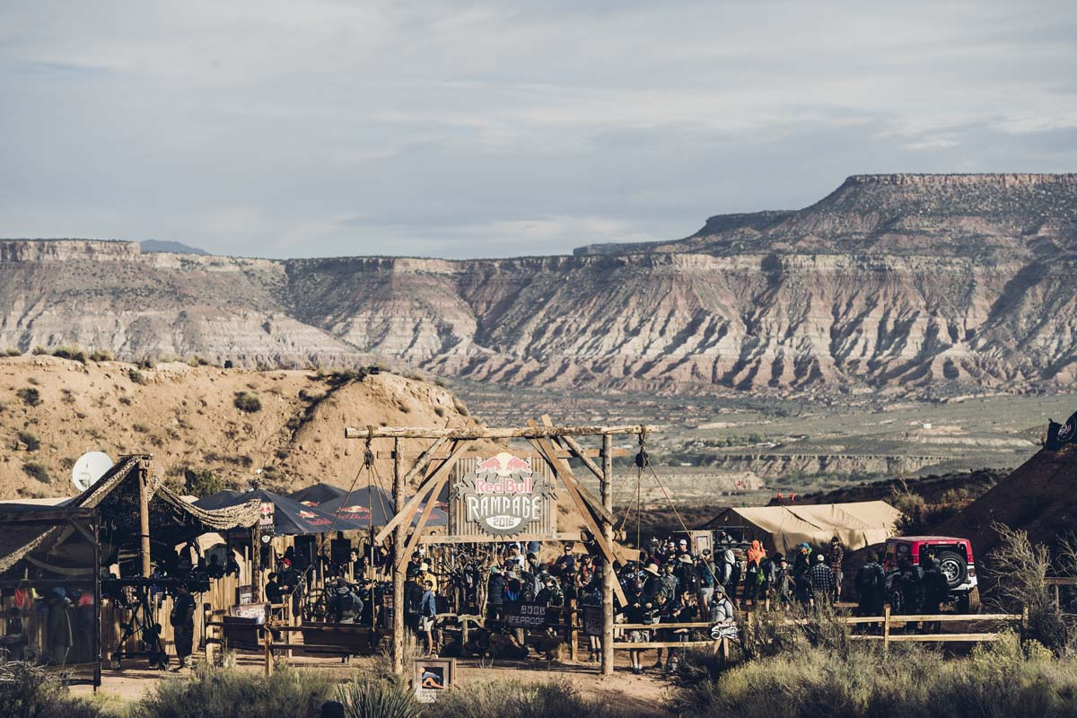 Venue at RedBull Rampage in Virgin, Utah on October 14th, 2016 // Bartek Wolinski/Red Bull Content Pool // P-20161015-00412 // Usage for editorial use only // Please go to www.redbullcontentpool.com for further information. //